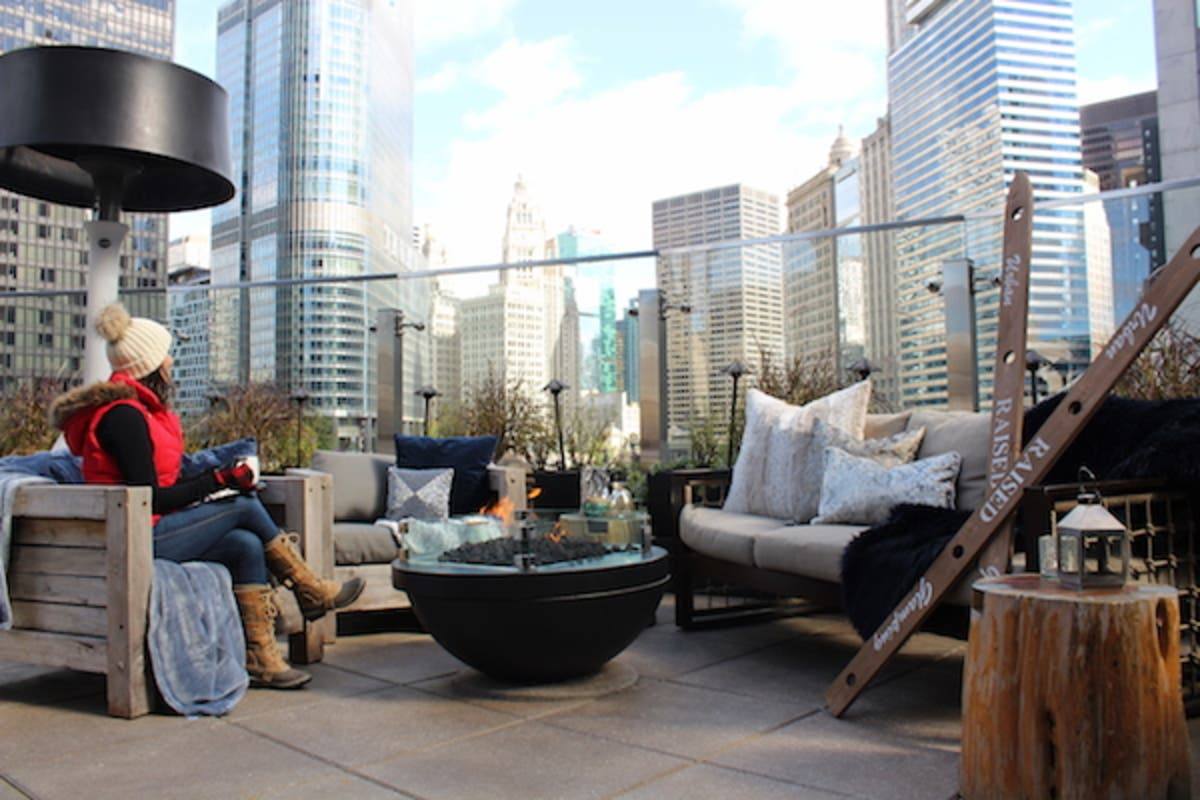 Nov 15 Raised An Urban Rooftop Bar Announces Exclusive Winter Glamping Lincoln Park Il Patch