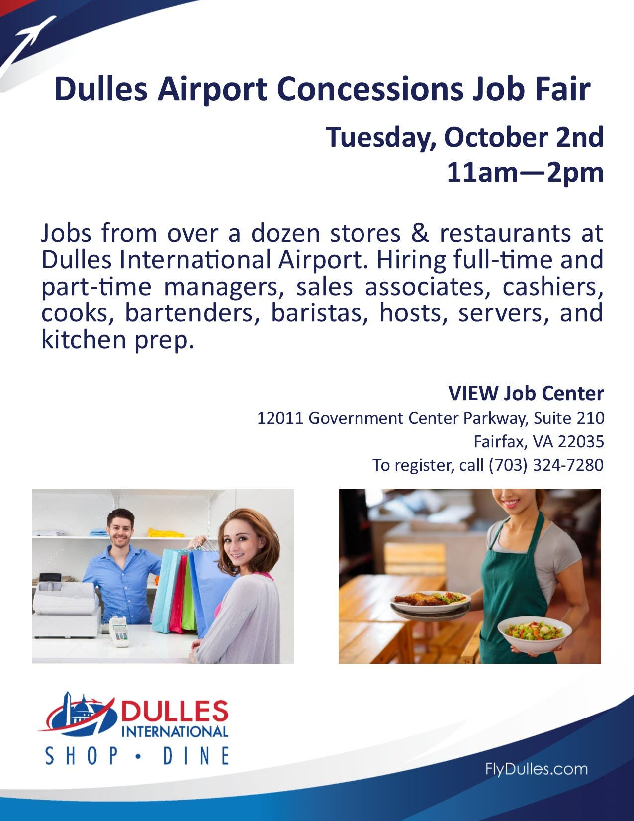 Oct 2 Dulles Airport Retail And Restaurant Job Fair
