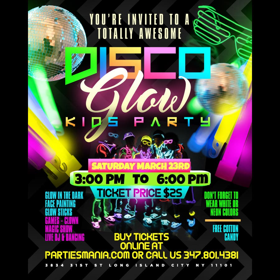 Mar 23 Disco Glow Kids Party Astoria Long Island City