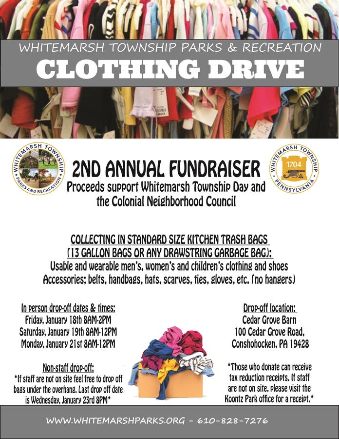 Clothing Drive Fundraiser!