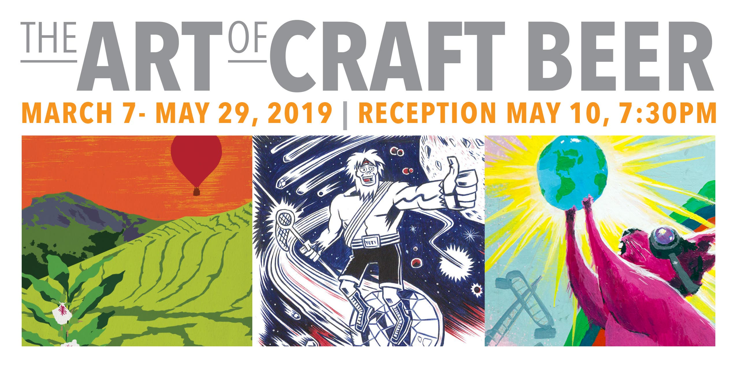 May 10 | Opening Reception: The Art of Craft Beer Exhibition