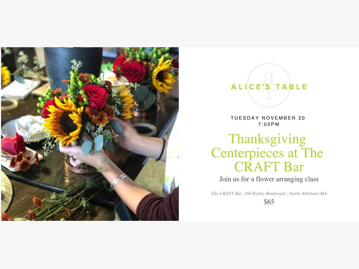 Thanksgiving Centerpieces At The Craft Bar Attleboro Ma Patch
