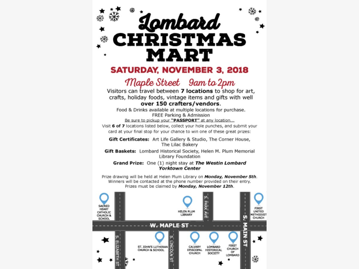 Lombard Christmas Mart 2020 Nov 2 | Lombard Christmas Mart | Glen Ellyn, IL Patch