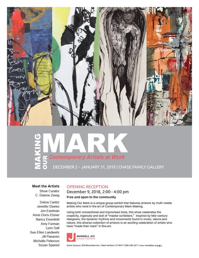 The Hartford At Work >> Dec 9 Making Our Mark Contemporary Artists At Work Avon
