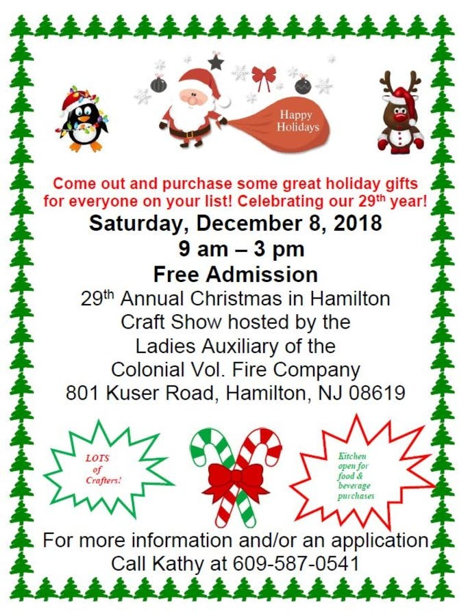 Christmas in Hamilton Craft Show | Princeton, NJ Patch