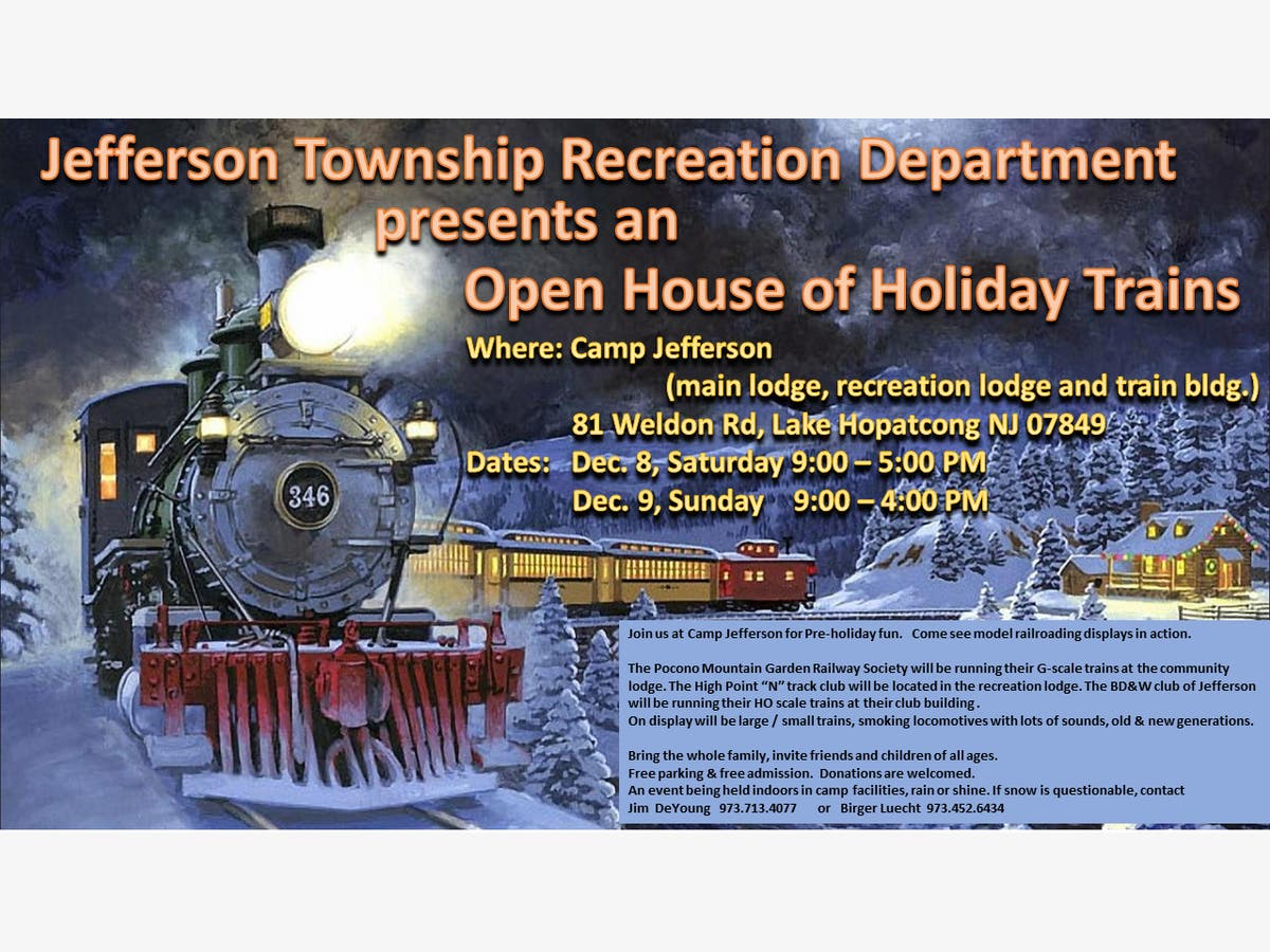 Dec 8   Open House of Holiday Trains   Jefferson, NJ Patch