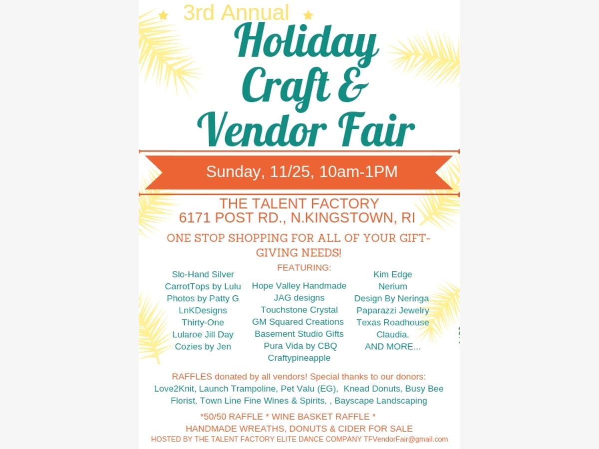 Nov 25 | Holiday Craft & Vendor Fair | North Kingstown, RI Patch