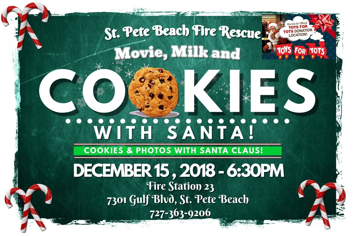 Dec 15 St Pete Beach Fire Rescue Milk And Cookies With Santa