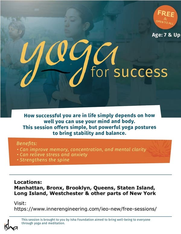 Yoga For Success (FREE YOGA/MEDITATION WORKSHOP)