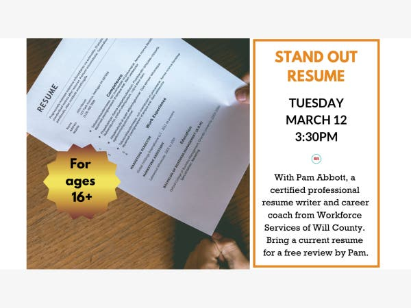 Mar 12 Stand Out Resume With Pam Abbott Shorewood Il Patch