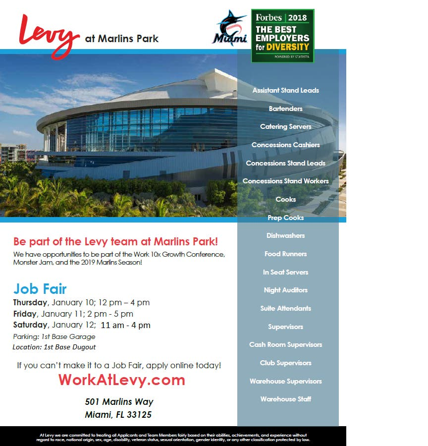 Jan 11 | Levy at Marlins Park | Miami, FL Patch