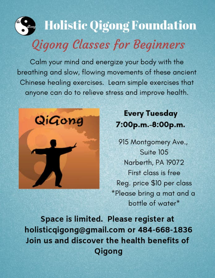 Dec 31 | Qigong Classes for Beginners | Narberth-Bala Cynwyd