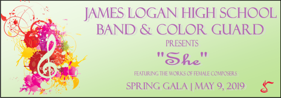 Dec 31 | James Logan Band & Color Guard Spring Gala 2019