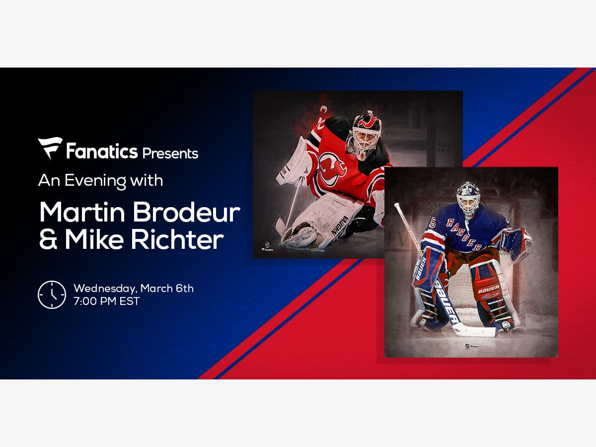 Mar 6 Fanatics Presents An Evening With Martin Brodeur And Mike