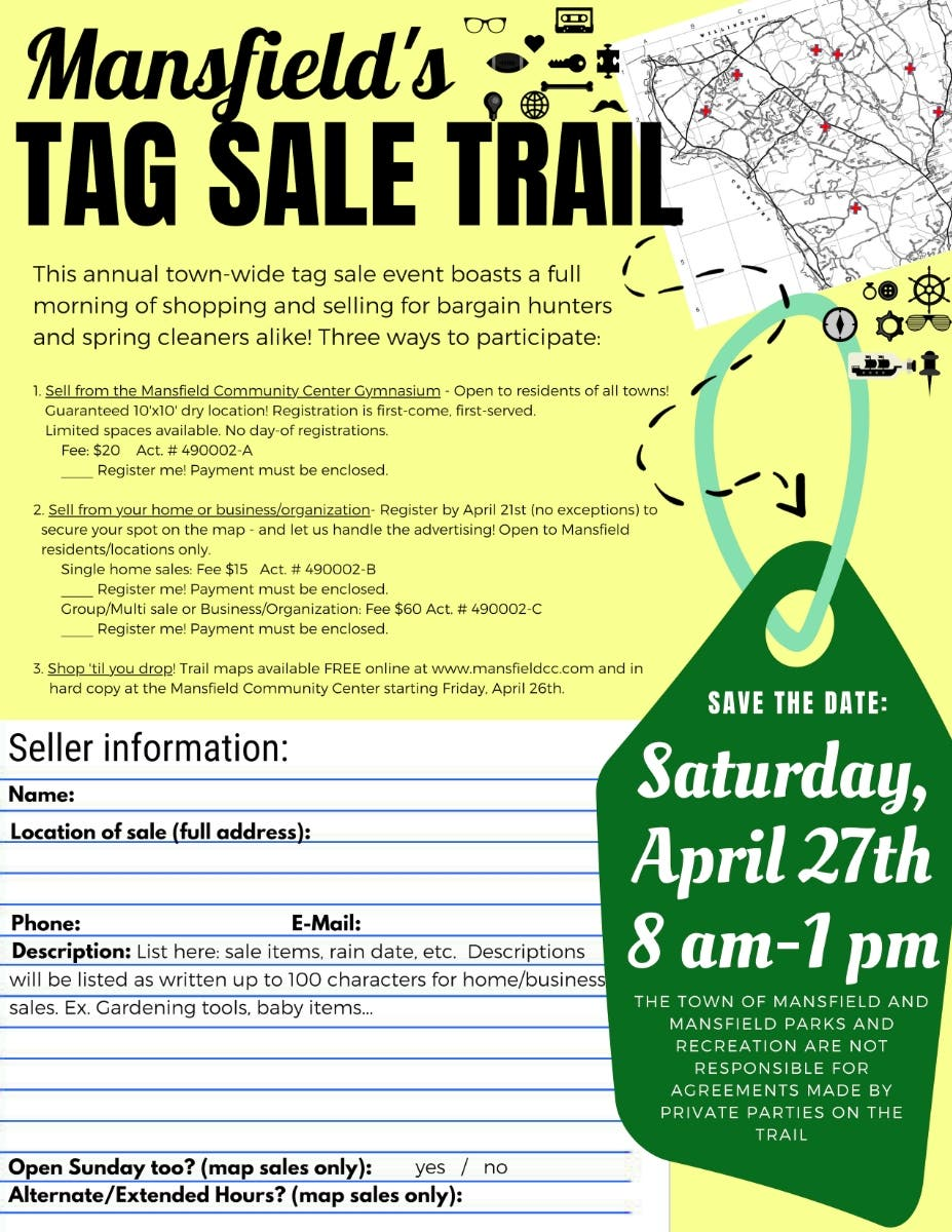 Apr 27 | Tag Sale Trail | Mansfield-Storrs, CT Patch
