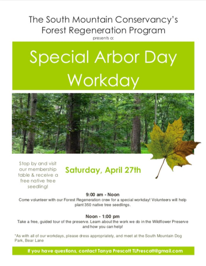 Apr 27 | South Mountain Conservancy's Special Arbor Day