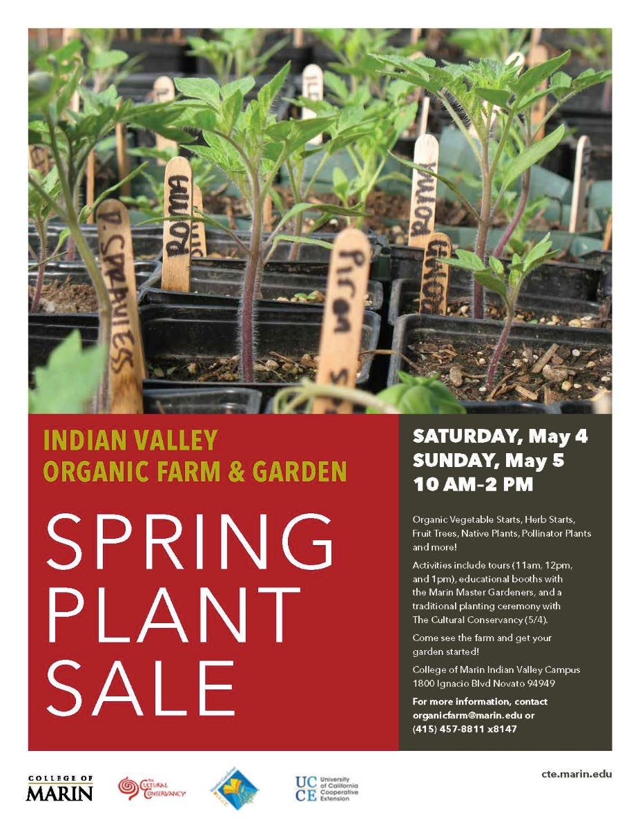 May 5 | Plant Sale at the Indian Valley Organic Farm and