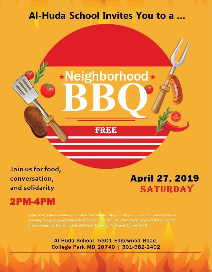 Apr 27   Free Neighborhood BBQ   College Park, MD Patch