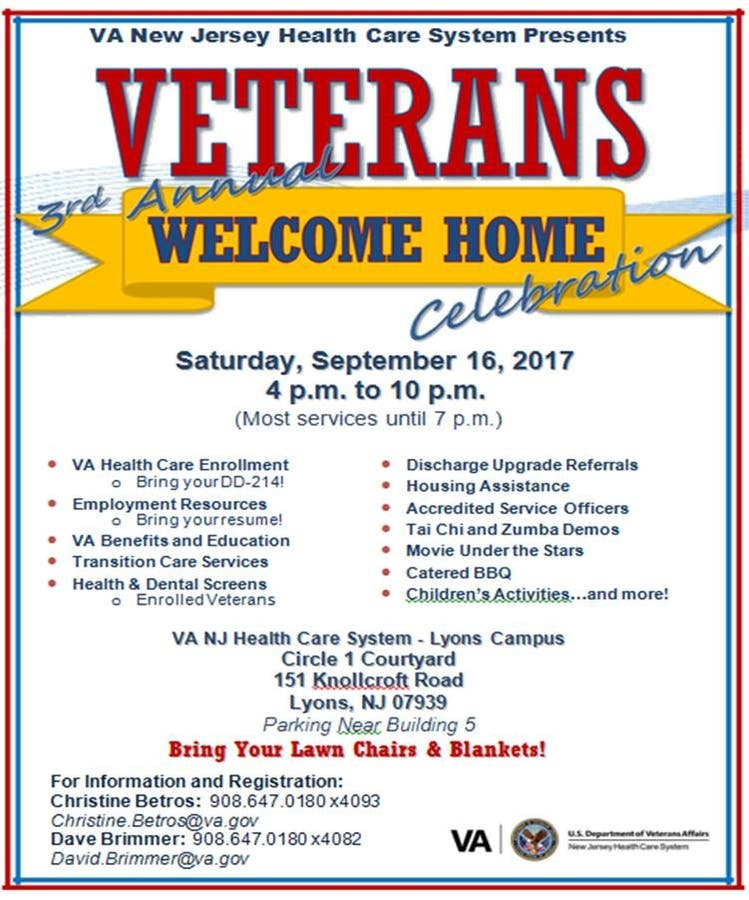 Sep 16 | 3rd Annual Veterans Welcome Home Celebration