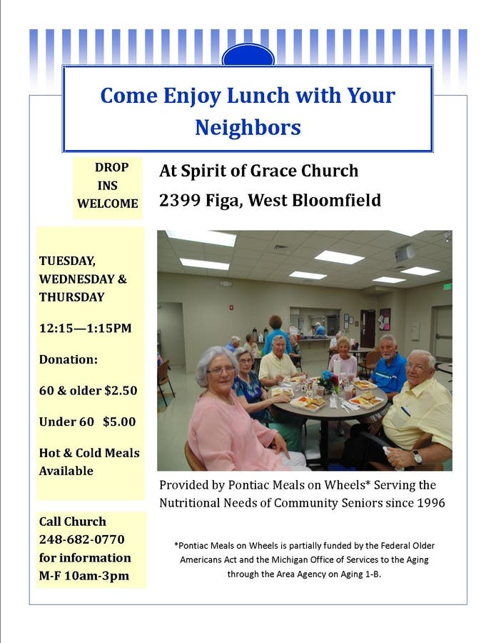 Mar 13 | Enjoy Lunch with your Neighbors at Spirit of Grace