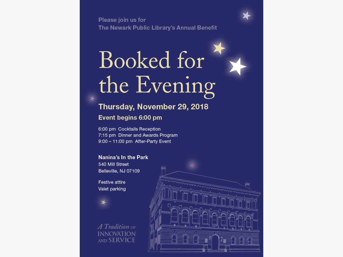 Nov 29 | Newark Public Library's Booked for the Evening Gala