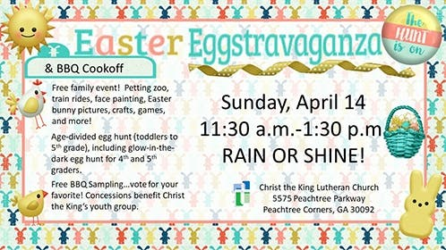 Apr 14 Christ The King S Easter Eggstravaganza Bbq Cook Off
