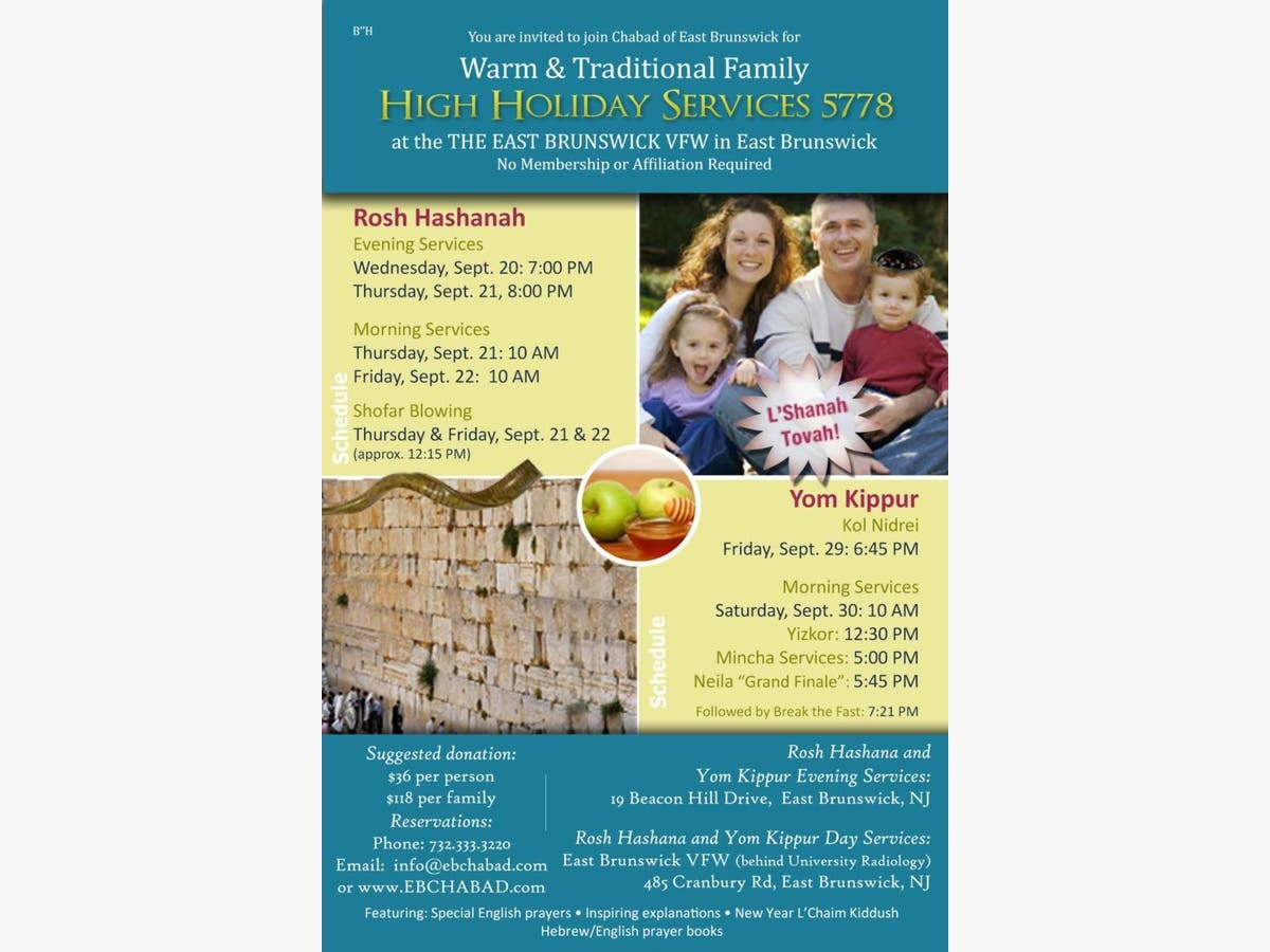 Sep 21   High Holiday Services Registration Open To All - No