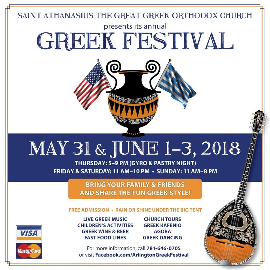 Jun 2 | Arlington 2018 Greek Festival | Arlington, MA Patch