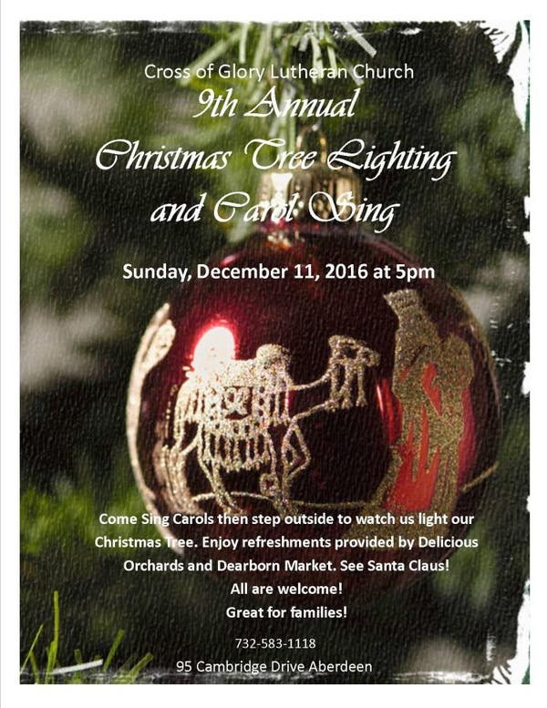 Dec 11 Cross Of Glory To Hold Its 9th Annual Christmas Tree
