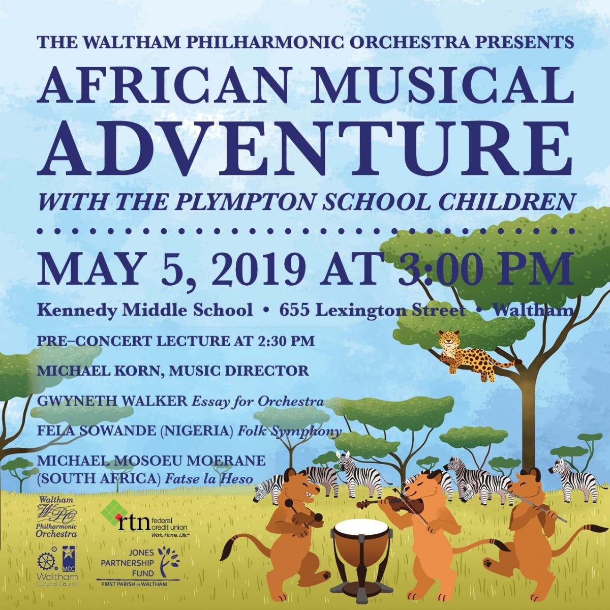 May 5 | Waltham Philharmonic Orchestra - African Musical Adventure