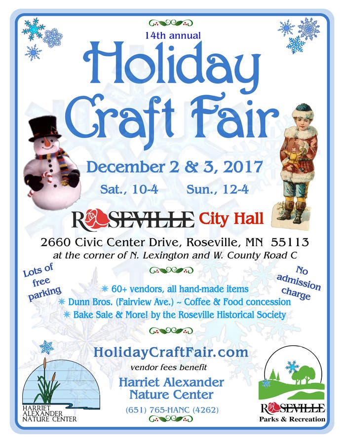 Dec 3 Holiday Craft Fair Roseville Mn Patch