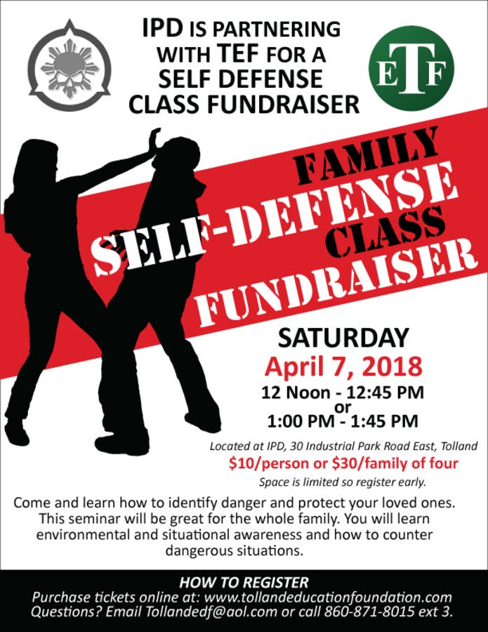 Apr 7 | Family friendly self defense class | Tolland, CT Patch