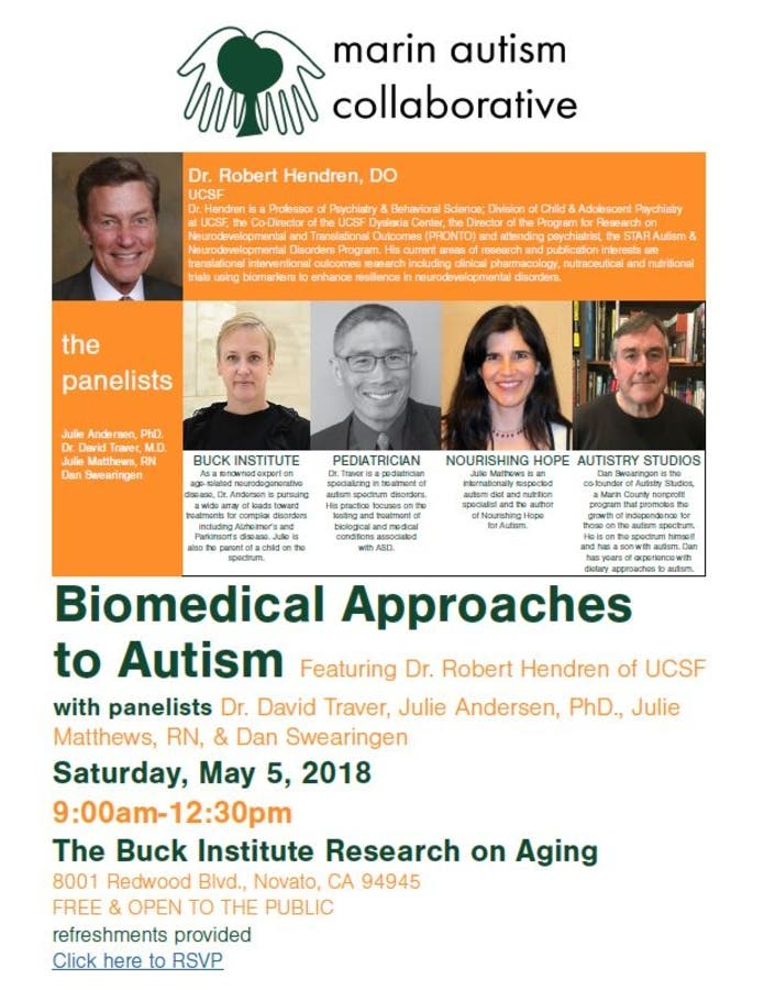 Doctors Diary Why Do People With Autism >> May 5 M A C Presents Biomedical Approaches To Autism Lecture On
