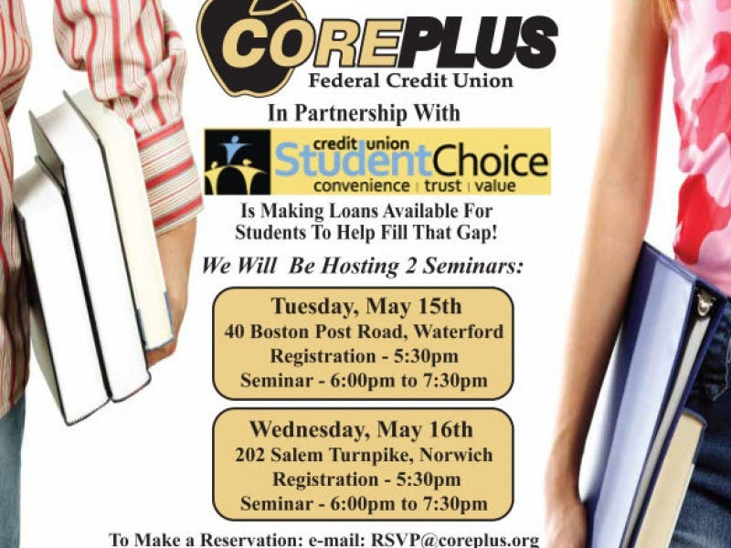Coreplus Hosting Free Student Loan Seminars Waterford Ct Patch