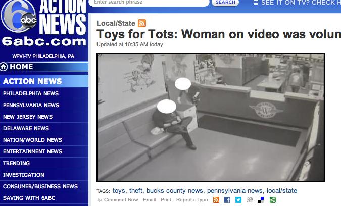 Toys for Tots Director Calls Theft Report 'Publicity Stunt