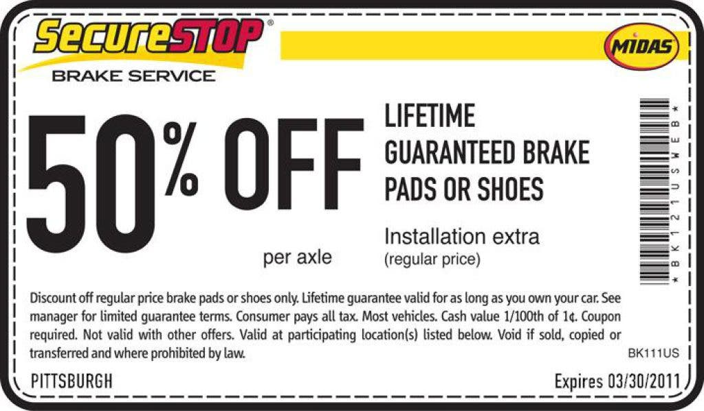 Midas Brake Coupons >> Midas Coupons Chartiers Valley Pa Patch