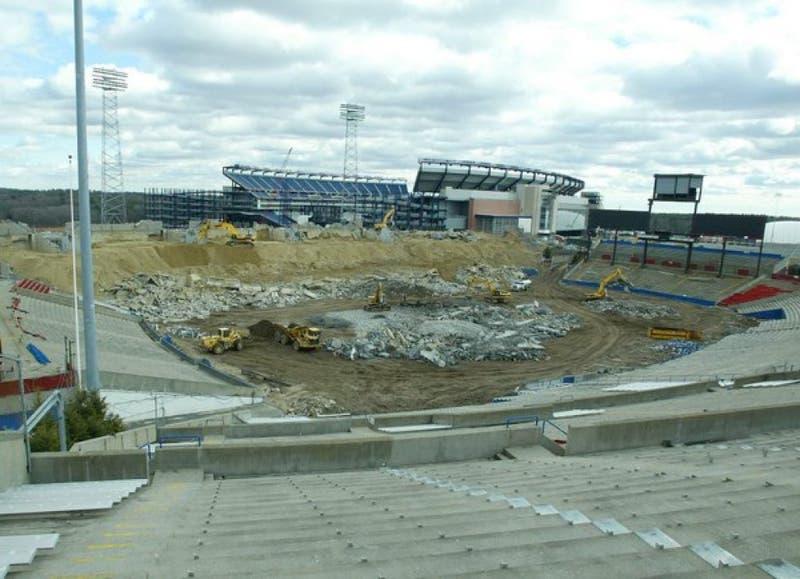 Schaefer Stadium demolished