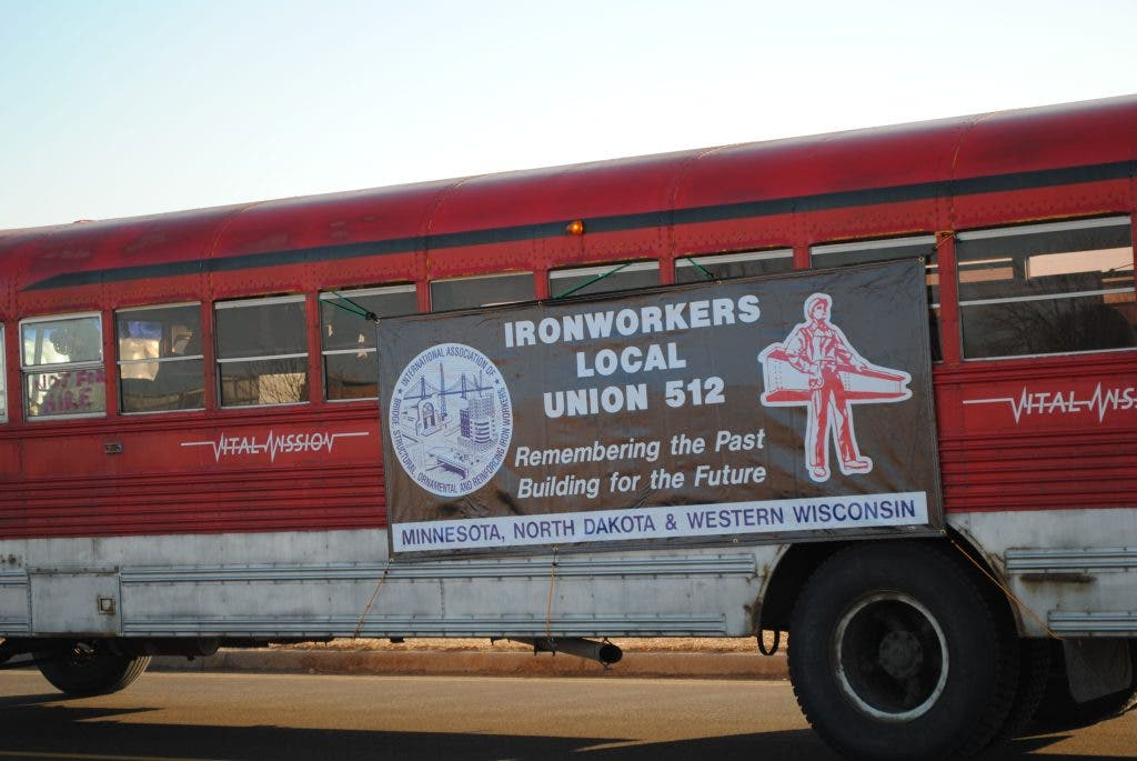 UPDATE: Union Ironworkers Picketing at Lakeville's Walmart Site