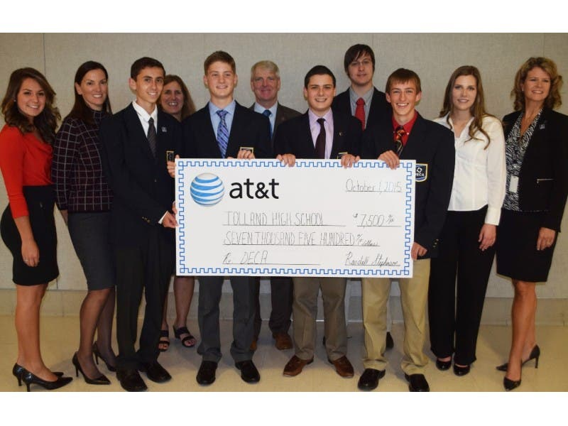 Tolland High School Deca Club Gets 7500 Grant Tolland Ct Patch