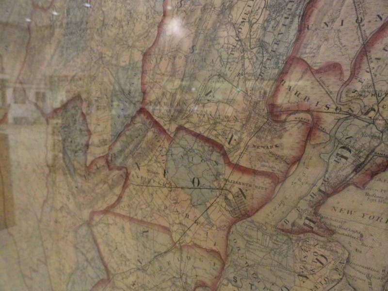 Chester New Jersey Map.1860s Map Of New Jersey On Display In Chester Mendham Nj Patch