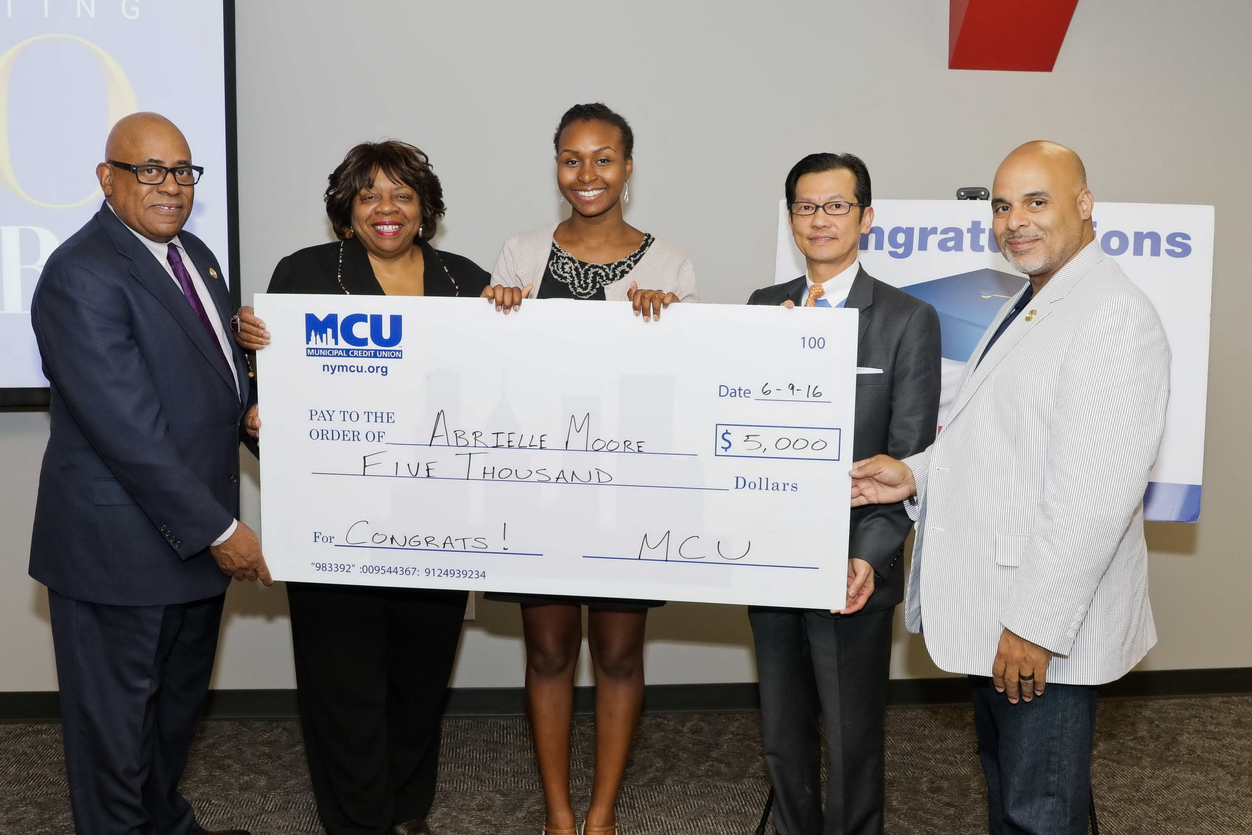Brooklyn's Abrielle Moore Wins $5,000 Scholarship From Municipal