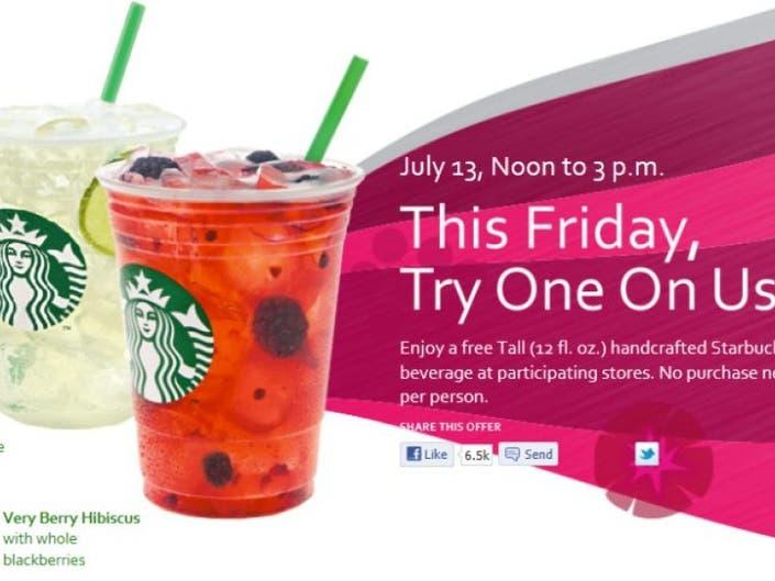 Starbucks Offering Free Cool Drinks Friday Oak Creek Wi Patch