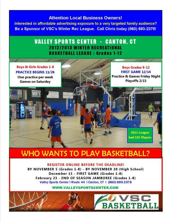 Youth Basketball League At Valley Sports Center in Canton