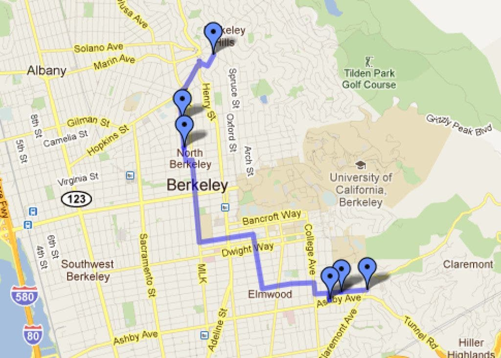 Map Trick Or Treating Route In Berkeley Berkeley Ca Patch