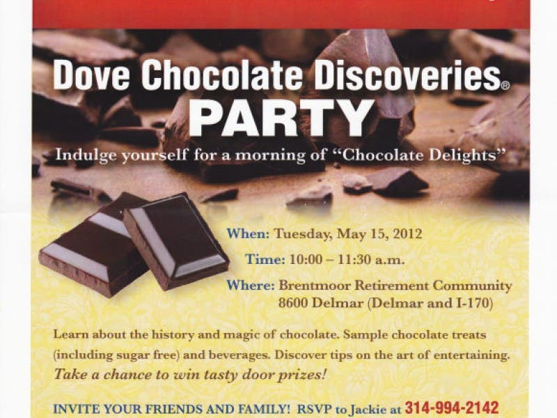 Dove Chocolate Discoveries Party University City Mo Patch
