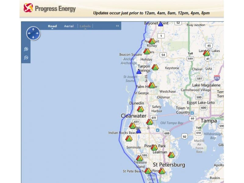 Progress Energy Working On Multiple Outages In Pasco Pinellas
