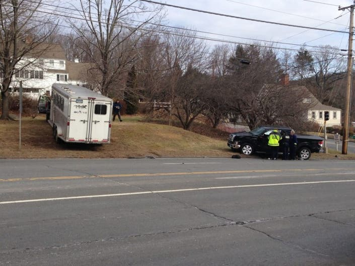 Infractions Issued Following Accident Involving Horse Trailer