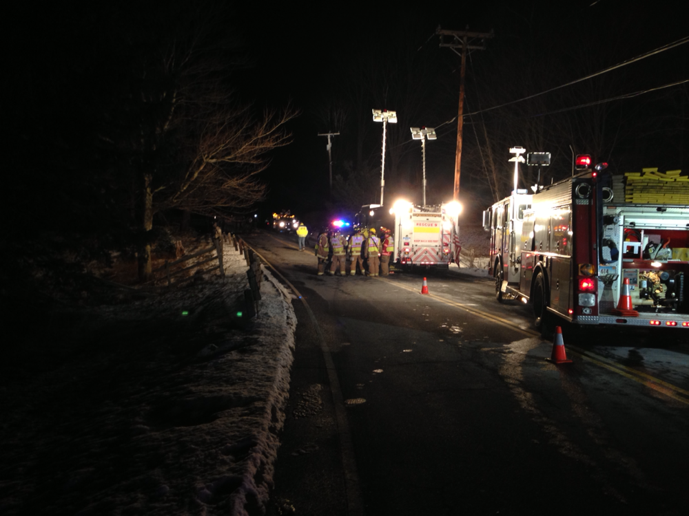 Upper Portion of Route 179 Was Closed All Night Following