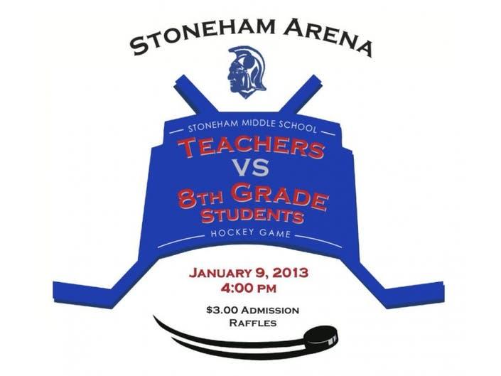 SMS Teachers Vs  8th Grade Students Hockey Game | Stoneham