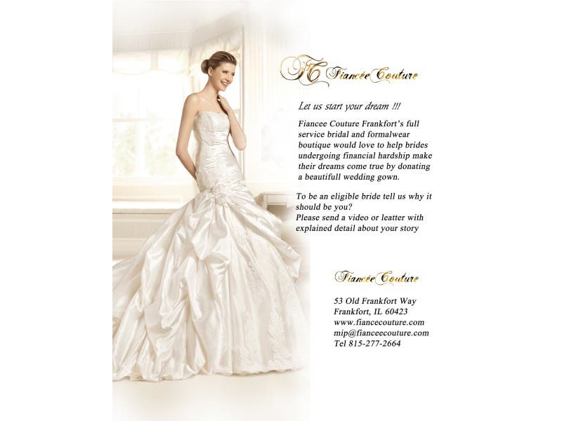 Fiancee Couture Is Donating Beautiful Wedding Gowns Frankfort Il